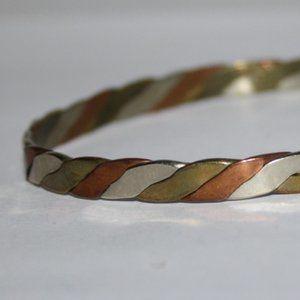 Vintage tri color bangle bracelet